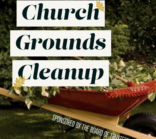 Church Grounds Cleanup Effort